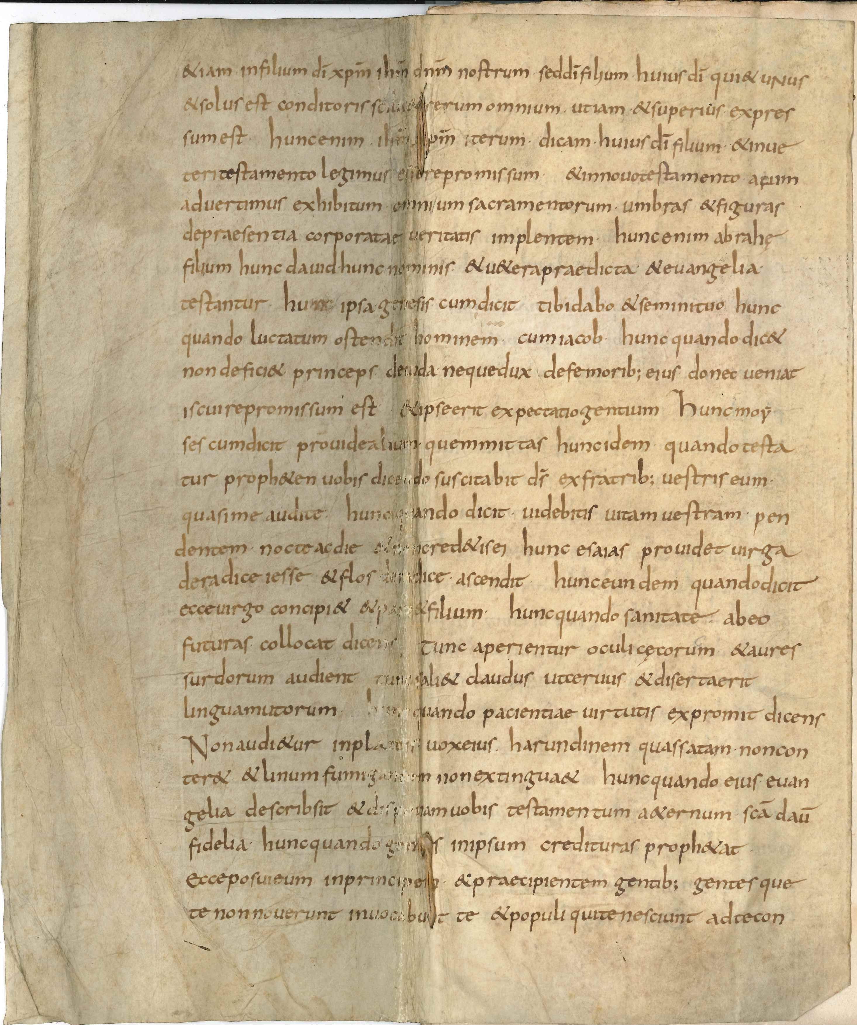Gevonden pagina van de Trinitate, 9e eeuw