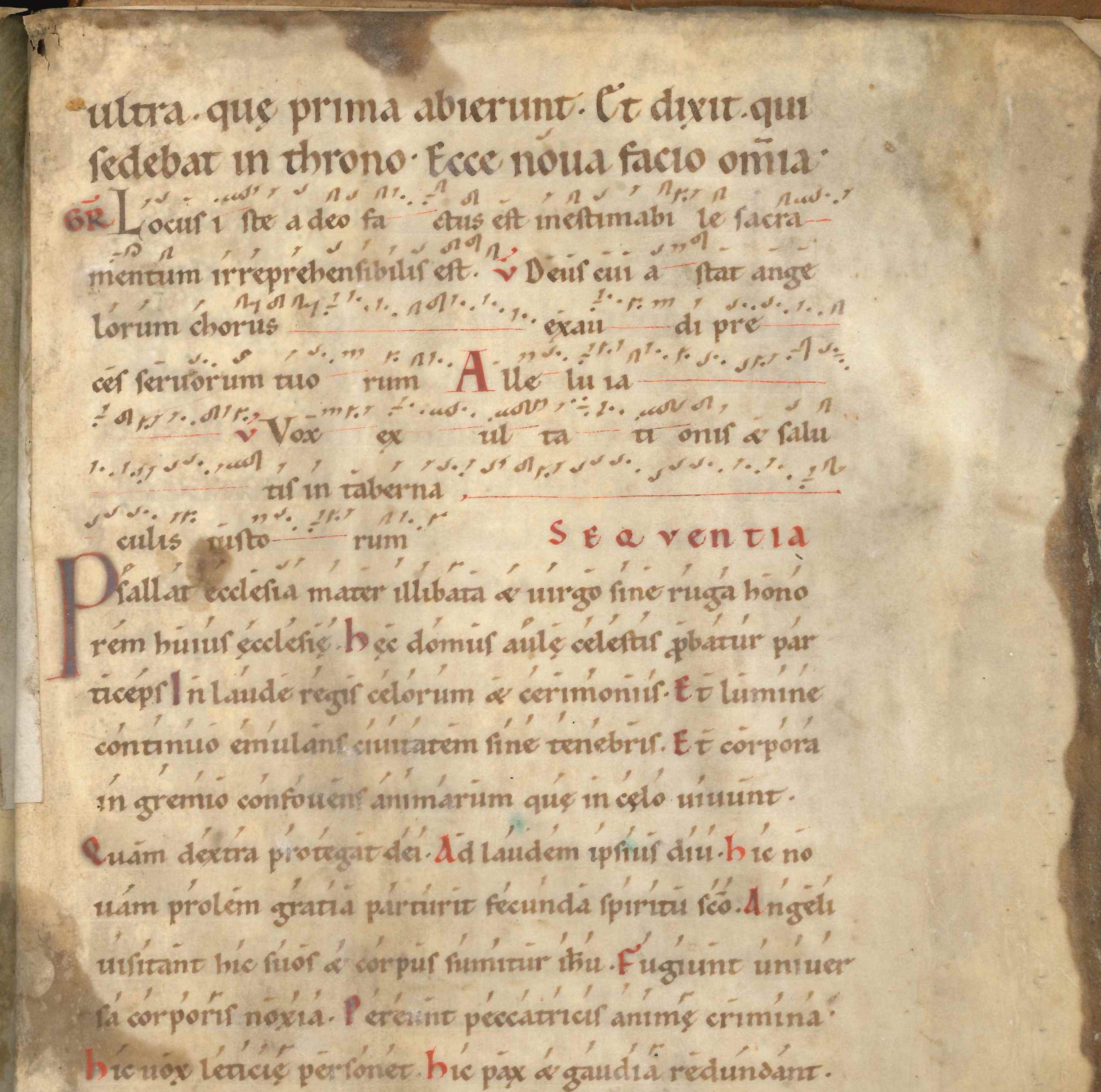 Sacramentarium uit de 11e eeuw met sequentia van Notker de Stotteraar, auteur van de biografie van Karel de Grote.