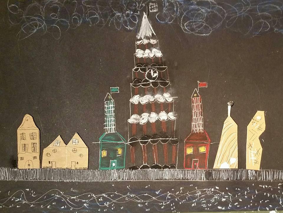 Prachtig resultaat van een van de workshops in het Kinderatelier