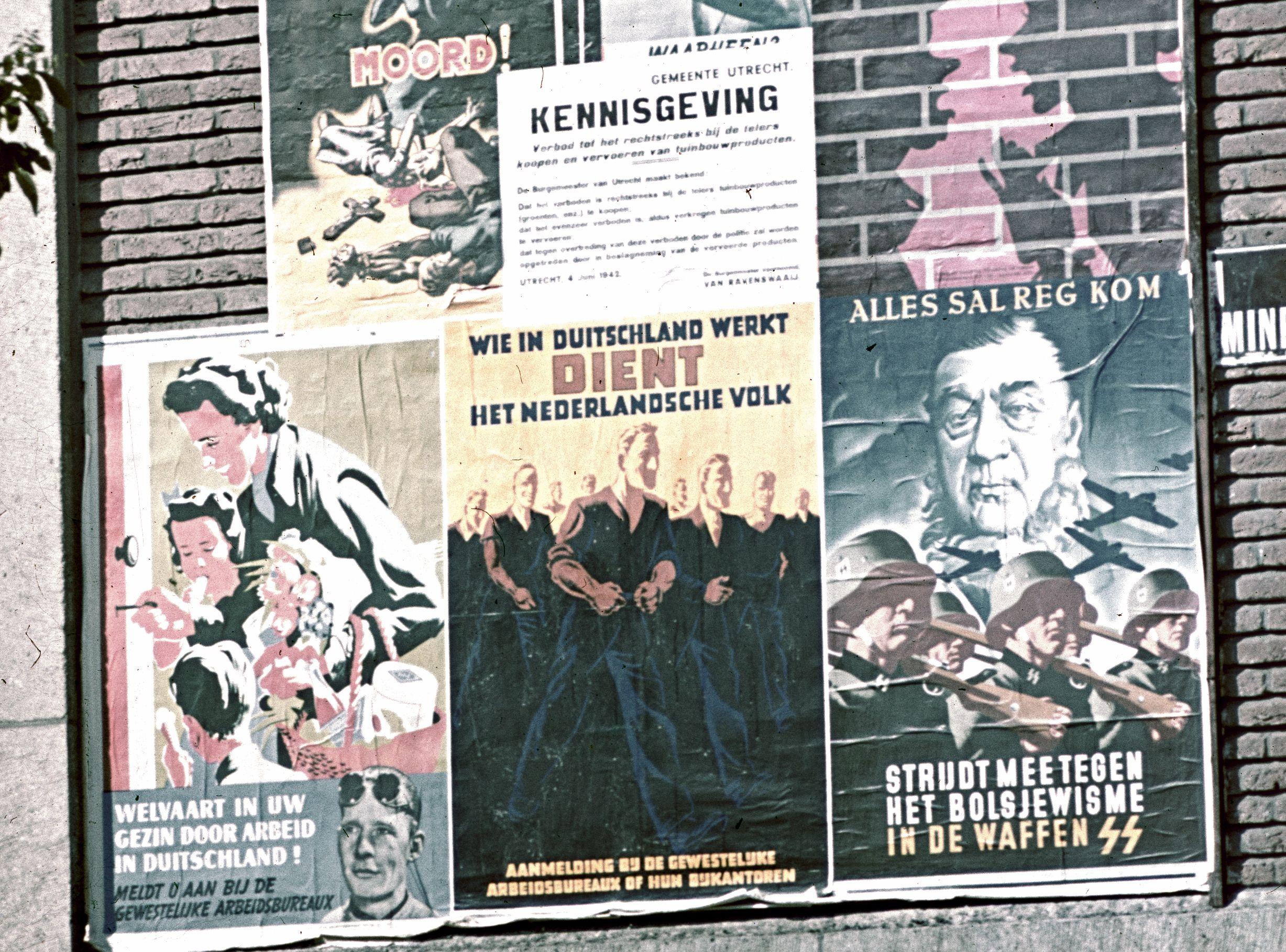 Propaganda op de Korte Minrebroederstraat