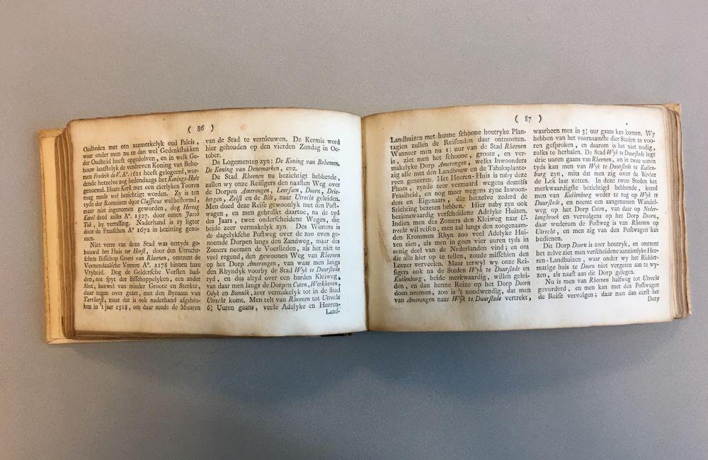 Stukje reistocht door provincie Utrecht in de 'Nieuwe geographische Nederlandsche Reise- en Zak-atlas' (1779)