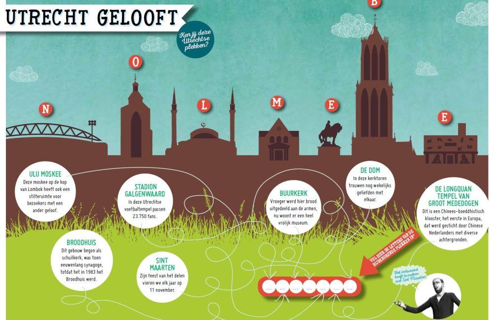 Ontdek bijvoorbeeld alles over verschillende geloofstradities in Utrecht